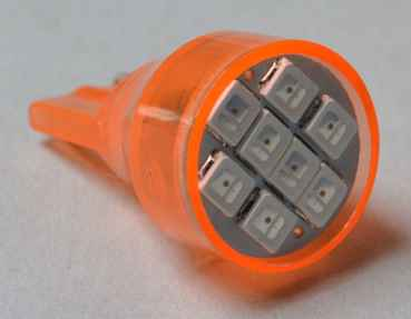LED Lampe Flasher #906 mit 8 SMD LEDs - orange