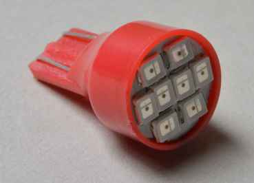 LED Lampe Flasher #906 mit 8 SMD LEDs - rot