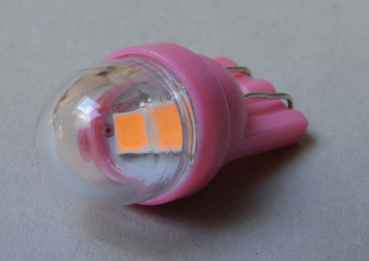 LED Lampe Retro Glassockel - pink