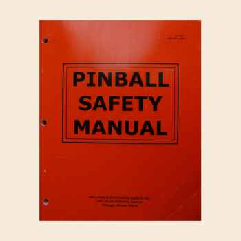 Pinball Safety Manual - Original Manual - gebraucht