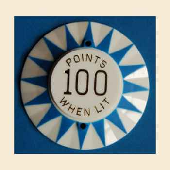 Bumpercap Bally blau '100 Points w/lit'